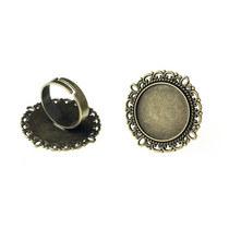 Основа для кольца с платформой, цвет -  бронза