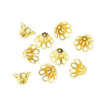 №27 Обниматель-конус для бусин ,12х8 мм, цвет - золото, 2 штуки