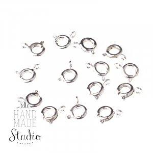 Карабин-кольцо (замок), цвет - серебро 0,6 см