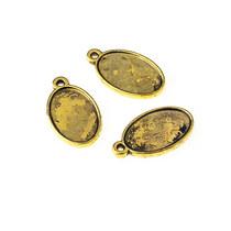 Основа для декорирования овальная 2,2*1,3, цвет - античное золото