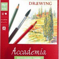 Альбом на спирали Accademia А5, 200г/м2, 30л, мелкое зерно, Fabriano