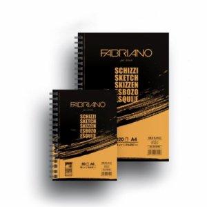 Альбом для эскизов на спирали Schizzi Sketch А5, 90г/м2, 60л., Fabriano