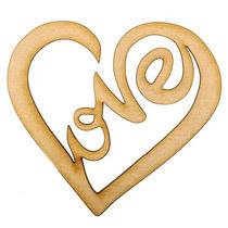 Деревянная заготовка Сердце Love №6,