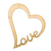 Деревянная заготовка Сердце Love №4
