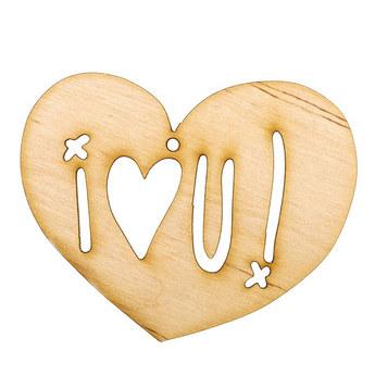 Деревянная заготовка Сердце I♥U
