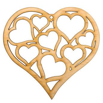 Деревянная заготовка Сердце №3