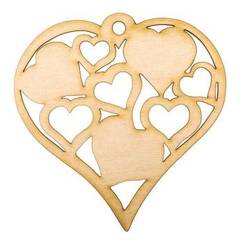 Деревянная заготовка Сердце №2