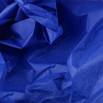 Бумага тишью, цвет -  сапфировый, 50х70 см, 1 лист