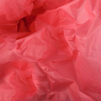 Бумага тишью, цвет - нежно-красный