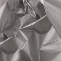 Бумага тишью, цвет - серебро (металлизированная с одной стороны), 50х70 см, 1 лист