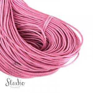 Вощеная нить светло-розовая, 2 мм
