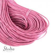 Вощеная нить розовая, 1 мм