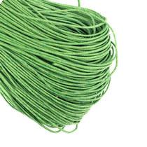 Вощеная нить, цвет зеленый, 1 мм, 1м