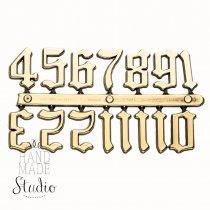 Цифры золото 15 староанглийские