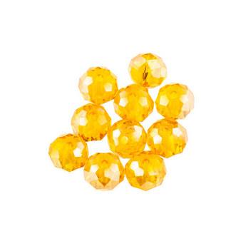 Бусины чешский хрусталь, цвет оранжевый перламутр, прозрачный №7
