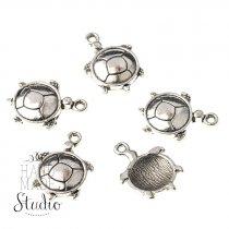 Серебряная металлическая подвеска Черепаха