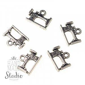 Серебряная металлическая подвеска Швейная машинка