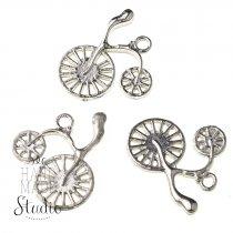 Серебряная металлическая подвеска Велосипед