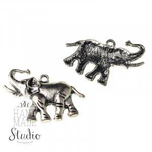 Серебряная металлическая подвеска Слон
