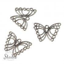 Серебряная металлическая подвеска Бабочка ажурная