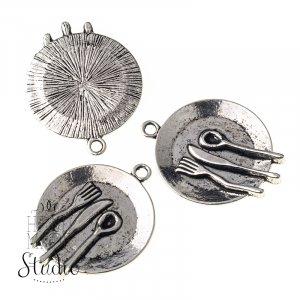 Серебряная металлическая подвеска Сердце с крыльями