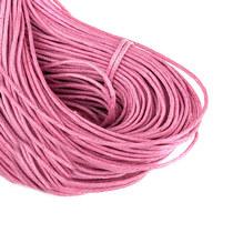 Вощеная нить, цвет розовый, 2 мм
