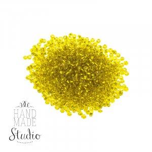 Бисер мелкий, цвет - темно-желтый матовый №23
