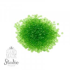 №22 Бисер китайский, цвет - зеленый,  матовый