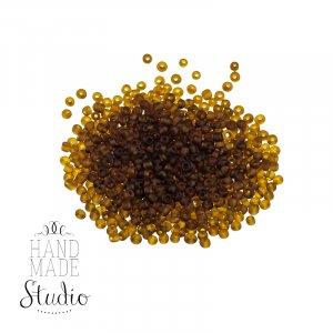 Бисер мелкий, цвет - коричнево-золотой №1