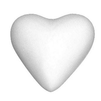Сердце пенопластовое, 2,5 см