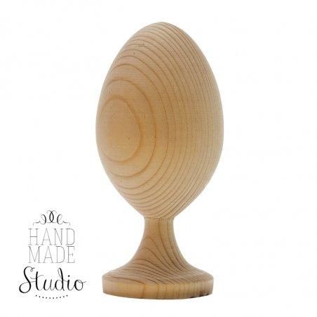 Деревянное яйцо на подставке, маленькое