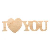 """Слово """"I Love You"""" малое, 14х4,5 см"""