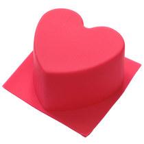 Силиконовая форма для мыла Сердце ровное, 6,5х6 см