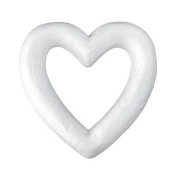 Сердце пенопластовое, 15 см
