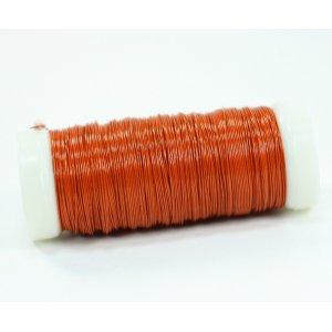Бижутерная проволока, цвет - оранжевый, диаметр - 0,35 мм