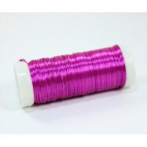 Бижутерная проволока, цвет - розовый, диаметр - 0,35 мм