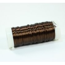 Бижутерная проволока, цвет коричневый, диаметр  0,35 мм