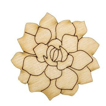 Деревянная заготовка Корзина с цветами