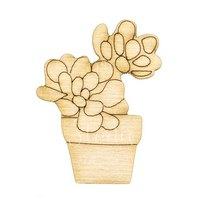 Деревянная заготовка Цветочки в горшочке
