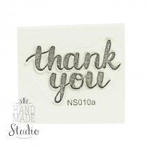 """Силиконовый штамп """"Thank you"""" NS010a"""