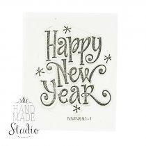 "Силиконовый штамп ""Happy New Year"" NMN691-1"