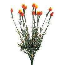 Ветка декоративная с оранжевыми тюльпанчиками