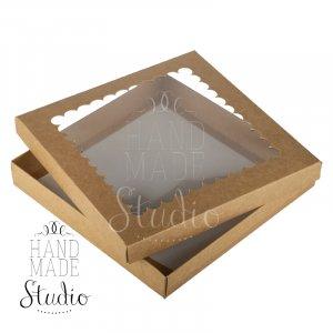 Коробочка для упаковки подарка (дно+крышка), цвет крафт