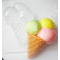 """Пластиковая форма для мыла """"Мороженое"""""""