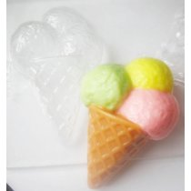 "Пластиковая форма для мыла ""Мороженое"", 10,3х7 см"