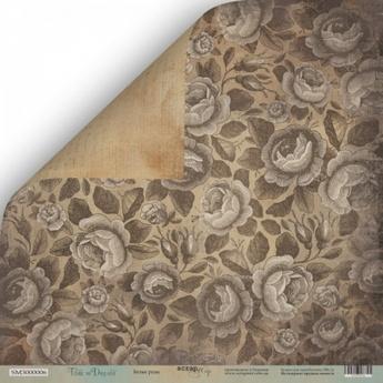 Лист двусторонней бумаги 30x30 от Scrapmir Белые Розы из коллекции Time to Dream