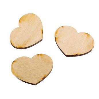 Заготовка Сердце маленькое 3х4 см