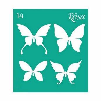 Трафарет многоразовый №14, 9*10 см, Rosa Talent