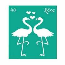 Трафарет многоразовый №48, 9*10 см, Rosa Talent