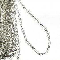№23-1 Цепь с плетением  Фигаро, цвет -  сталь